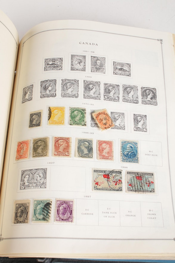 International Stamp Collection Featuring Canada Bulgaria