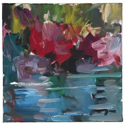 """Jose Trujillo Oil Painting """"Flurishing Marshes"""""""