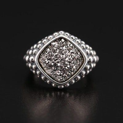 Michael Dawkins Sterling Silver Druzy Ring
