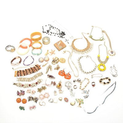 Zuni, Sterling, and Assorted Vintage Costume Jewelry