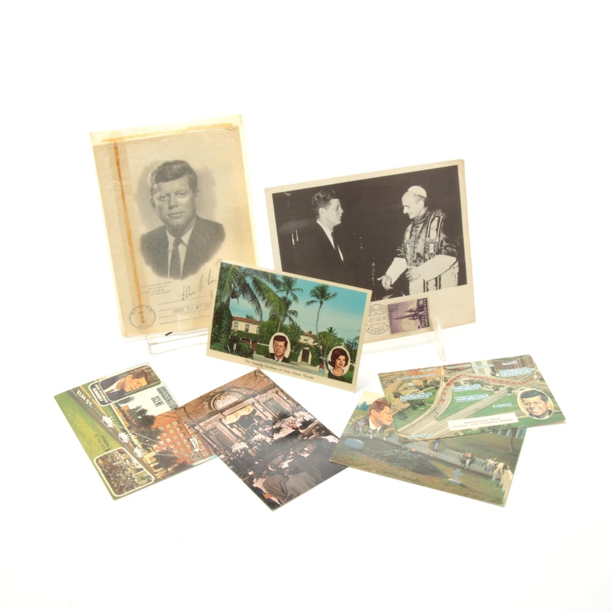 John F. Kennedy Postal Cover and Postcard Collection