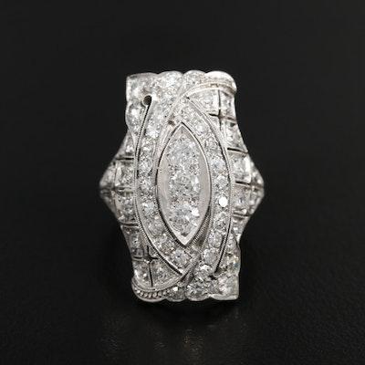 Edwardian Platinum 1.78 CTW Diamond Ring