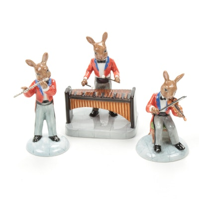 "Royal Doulton ""The Violinist"" and Other Bunnykins Porcelain Figurines"