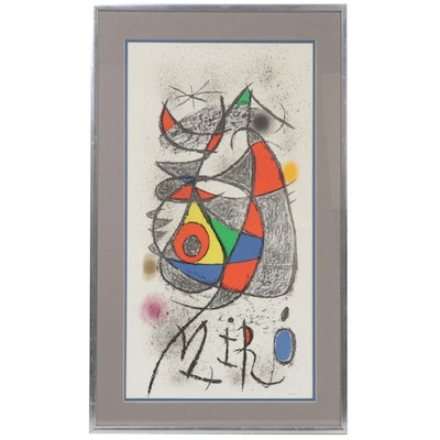 Joan Miró Color Lithograph, Late 20th Century