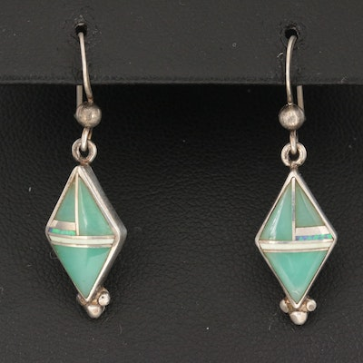 Sterling Silver Turquoise, Opal, and Agate Earrings