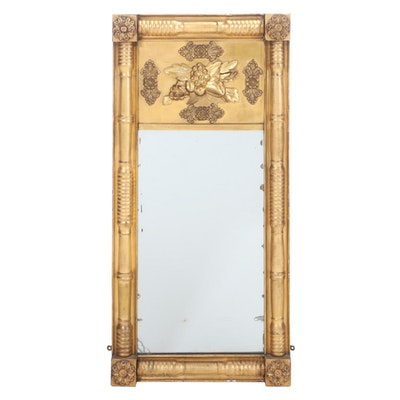 American Classical Gilt Pier Mirror, Early 19th Century