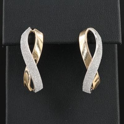 14K Ribbon Earrings
