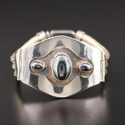 Sterling Silver Hematite Bracelet
