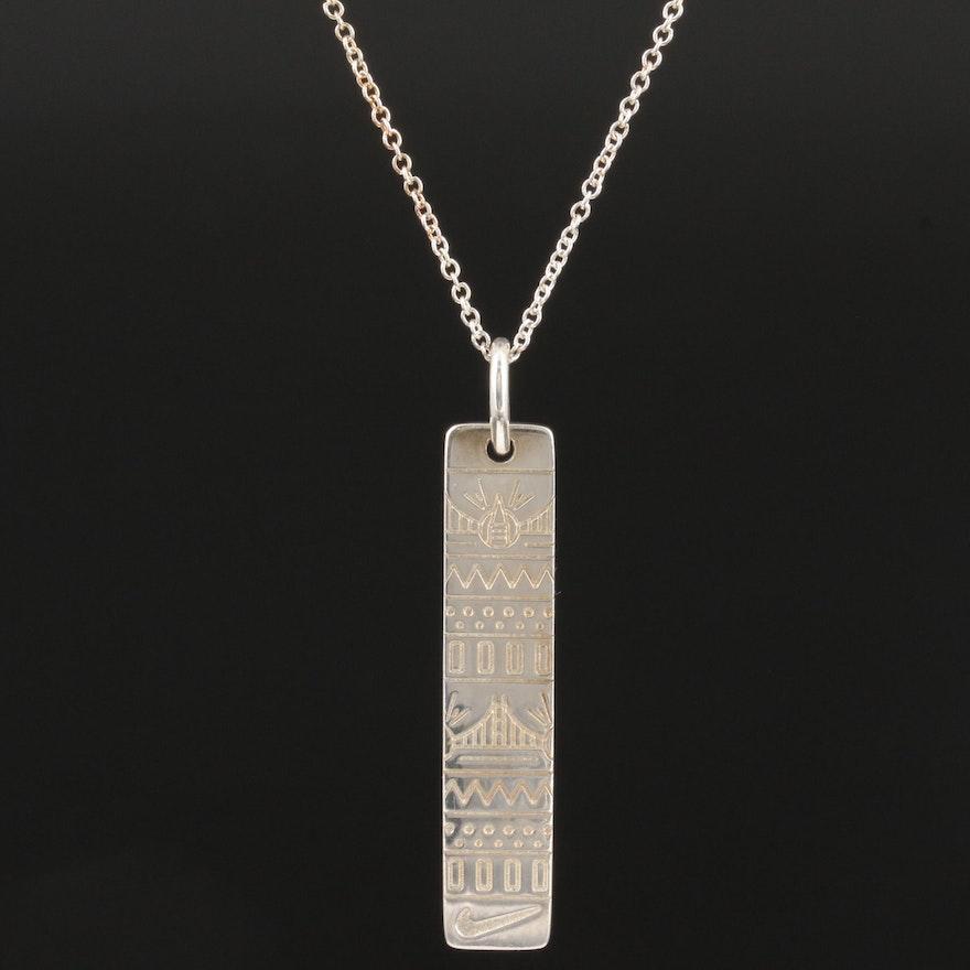 2014 Tiffany & Co. Nike Women's Half Marathon Sterling Silver Necklace