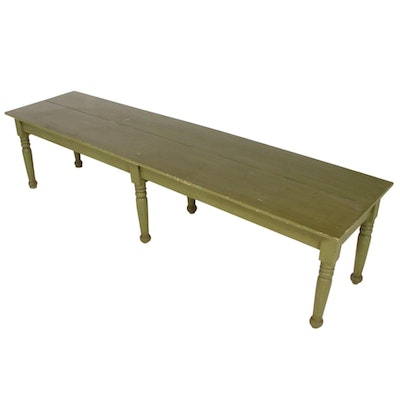 American Primitive Style Long Farmhouse Table, 20th Century