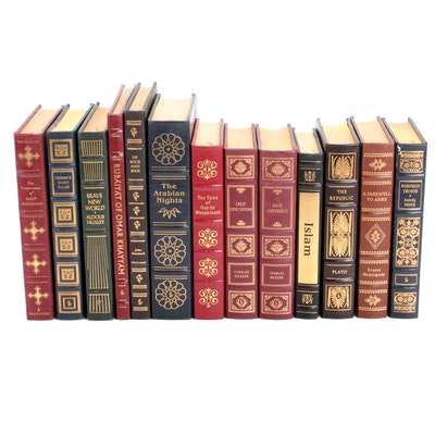 Easton Press Leather Bound Literary Classics Including Dickens, Steinbeck