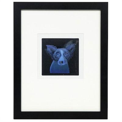 After George Rodrigue Blue Dog Lenticular Hologram Print, 1994