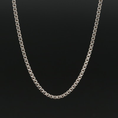 Sterling Silver Box Chain Necklace