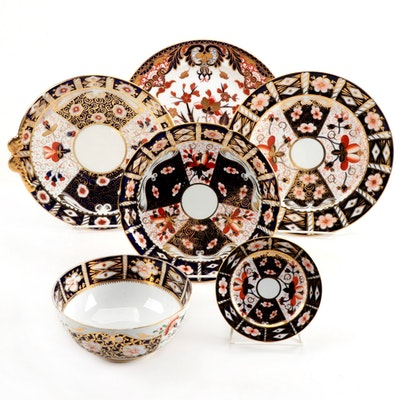 "Royal Crown Derby and Regency Period Derby ""Imari"" Tableware"