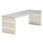 Contemporary Modern Stainless Steel Bench with Acrylic Spacers