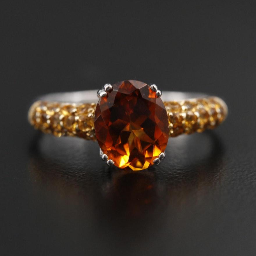 Sterling Citrine Ring