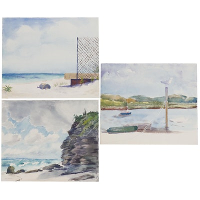 Pat Kisker Coastal Landscape Watercolor Painting and More