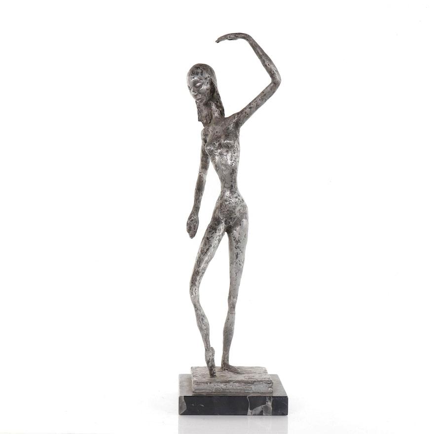 Female Figure Sculpture, Late 20th Century