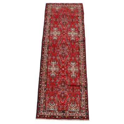 3'3 x 9'9 Hand-Knotted Persian Lilihan Wool Long Rug