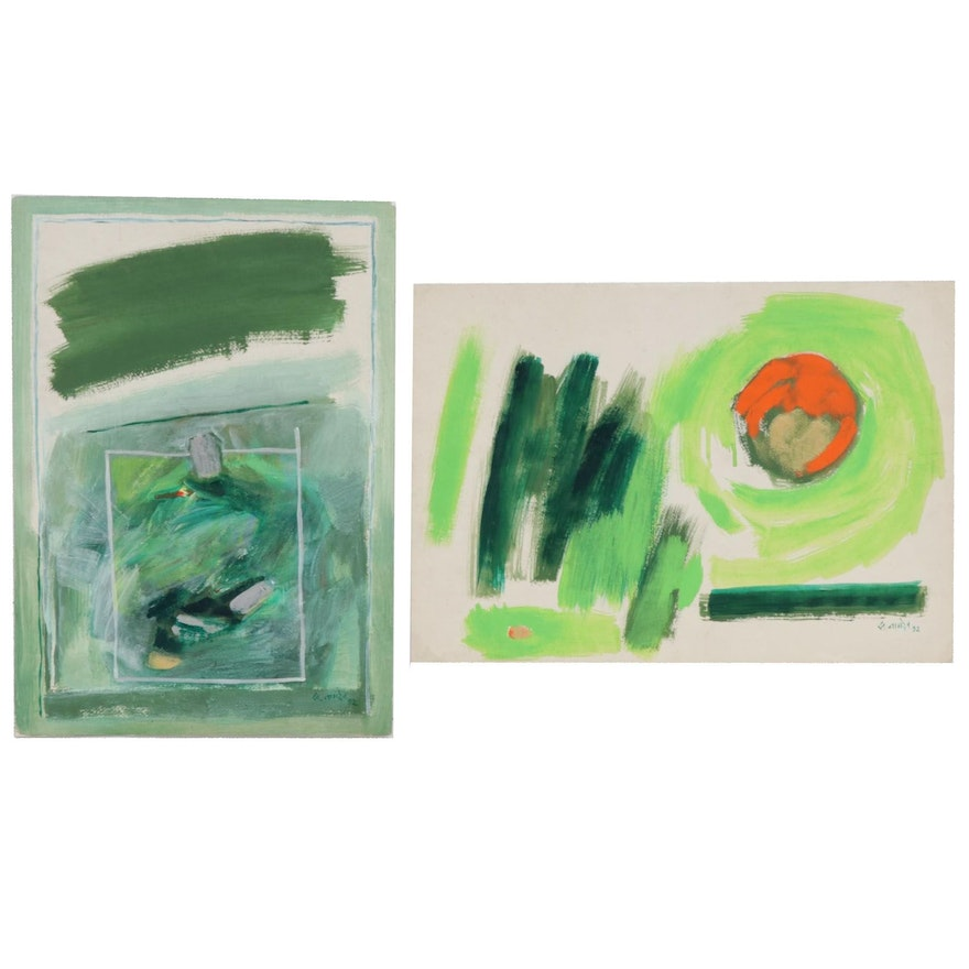 Abstract Acrylic Paintings, 1992