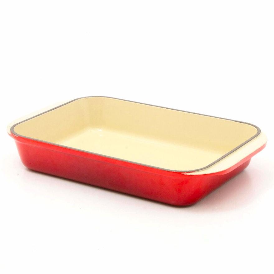 """Le Creuset """"Cerise"""" Enameled Cast Iron Baking Dish"""