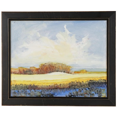 "Robert Lackney Landscape Oil Painting ""Summer"""