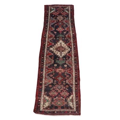2'9 x 10'0 Hand-Knotted Persian Shiraz Wool Carpet Runner