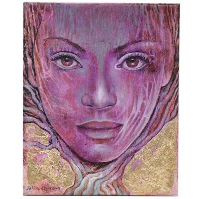 Fatima Taylor Surreal Portrait Acrylic Painting