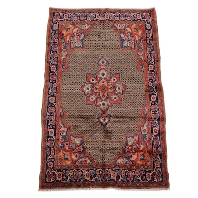 4'10 x 8'3 Hand-Knotted Persian Veramin Wool Rug