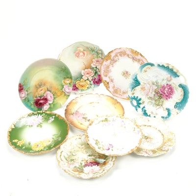 Tressemann & Vogt, Coronet and Other Hand-Painted Porcelain Plates
