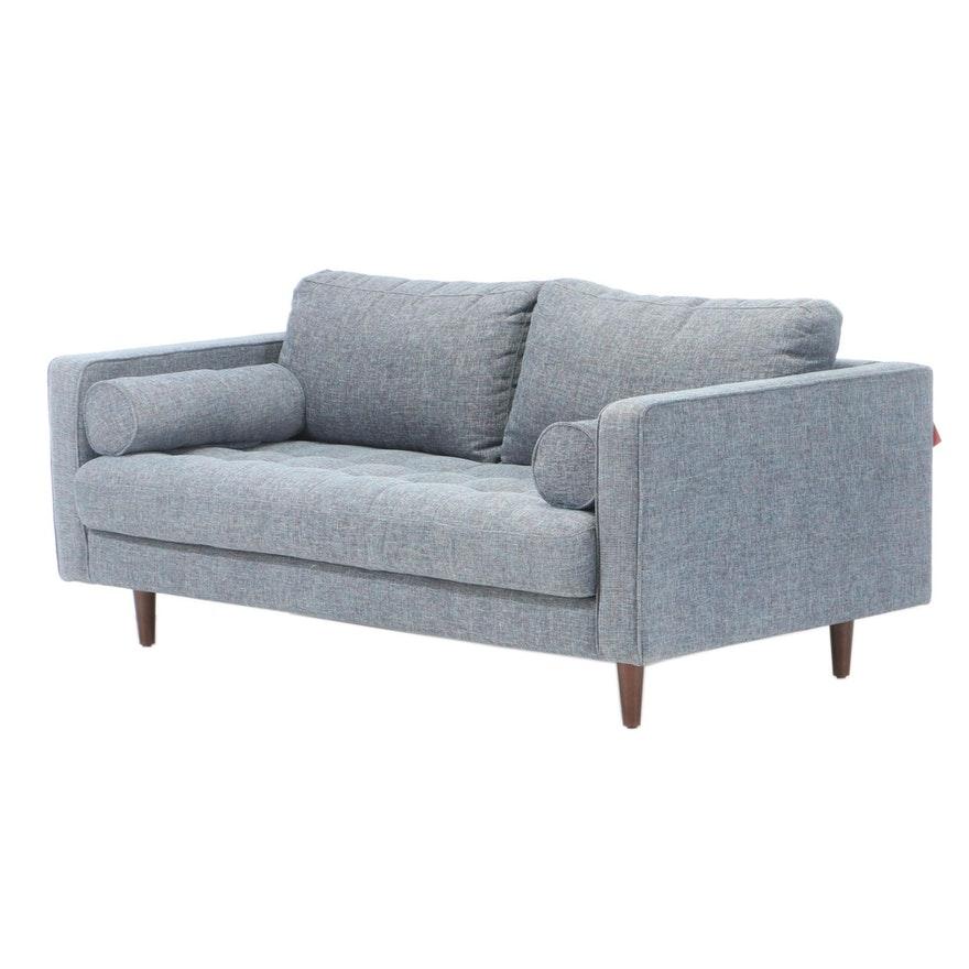 "Article ""Sven"" Aqua Blue Upholstered Sofa"