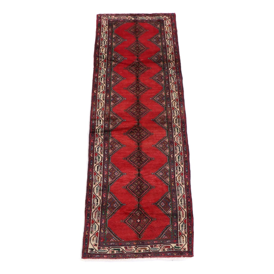 3'6 x 10'6 Hand-Knotted Persian Yalameh Wool Long Rug