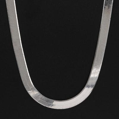 950 Silver Herringbone Necklace