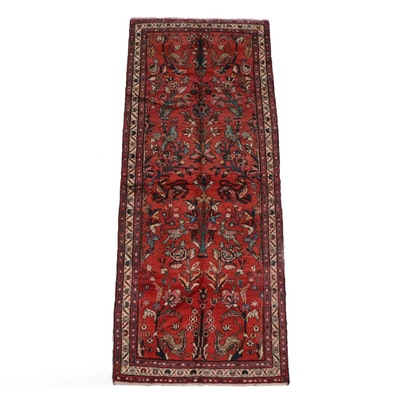 3'10 x 10'5 Hand-Knotted Persian Garden Wool Long Rug