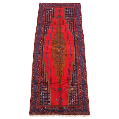 4'3 x 10'9 Hand-Knotted Turkish Taspinar Wool Long Rug