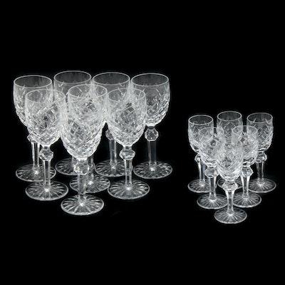 "Waterford Crystal ""Powerscourt"" White Wine and Cordial Stemware"
