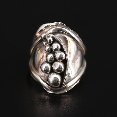 Sterling Silver Abstract Style Ring