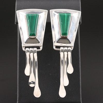Quac Turquoise Inc. Sterling Silver Malachite Earrings