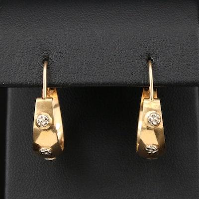 18K Yellow Gold Hoop Earrings