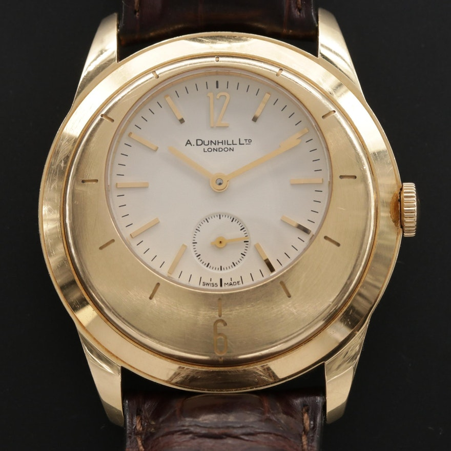 Alfred Dunhill X - Centric Limited Edition 18K Gold Stem Wind Wristwatch