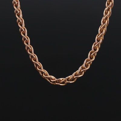 14K Yellow Gold Espiga Chain Necklace