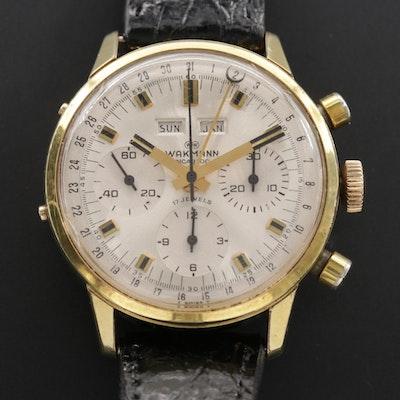 Vintage Wakmann Triple Calendar Chronograph Wristwatch