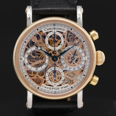 Chronoswiss Sirius Opus Skeleton 18K Gold and Stainless Steel Chronograph Watch