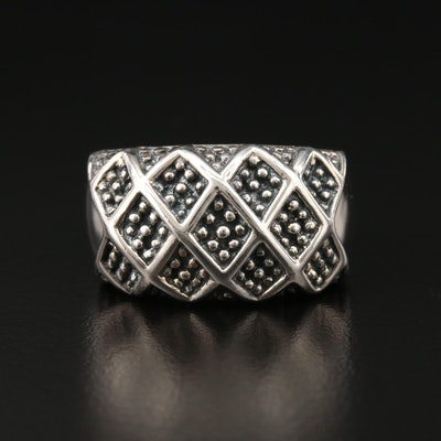 Michael Dawkins Sterling Silver Patterned Ring