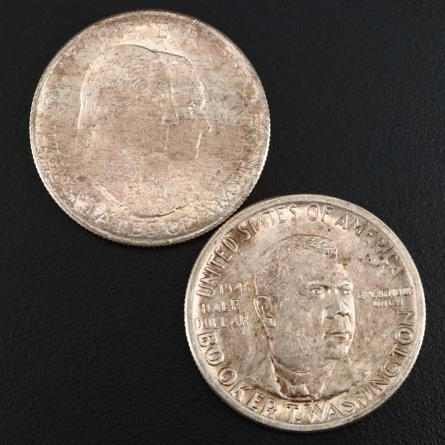 Two Vintage U.S. Commemorative Silver Half Dollars
