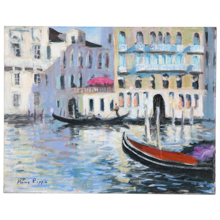 """Nino Pippa Oil Painting """"Venice - On the Grand Canal"""""""