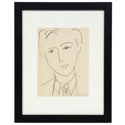 "Lithograph After Henri Matisse ""Georges Salles,"" 1954"