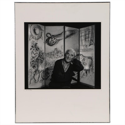 "Yousuf Karsh Silver Gelatin Photograph ""Marc Chagall"", 1965"
