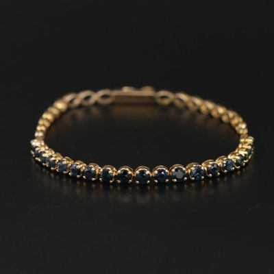 14K Blue Sapphire Bracelet