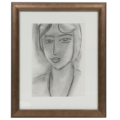 "Lithograph after Henri Matisse ""Paula"" for ""Derrière le Miroir,"" 1952"